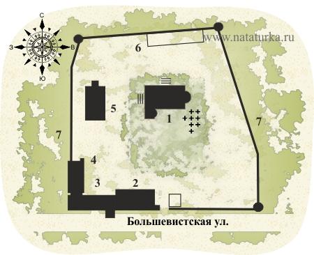 План Борисоглебского монастыря в Дмитрове