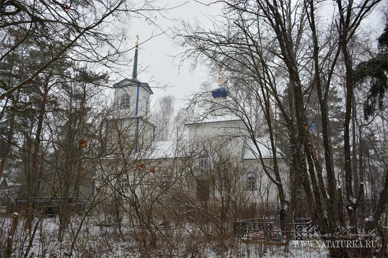 Деревянная церковь Сергия Радонежского в пос. Троицкий