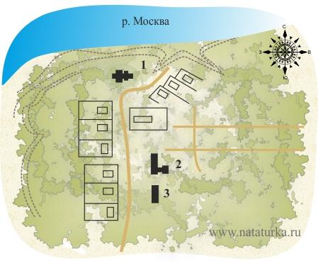 План усадьбы Иславское