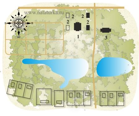 План усадьбы Богородское (Кишкино)