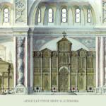 Троицкая церковь в Щурово. Эскиз оформления интерьера