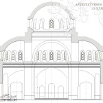 Храм в Щурово. Поперечный разрез с видом на алтарь