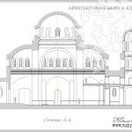 Троицкая церковь в Щурово. Продольный разрез