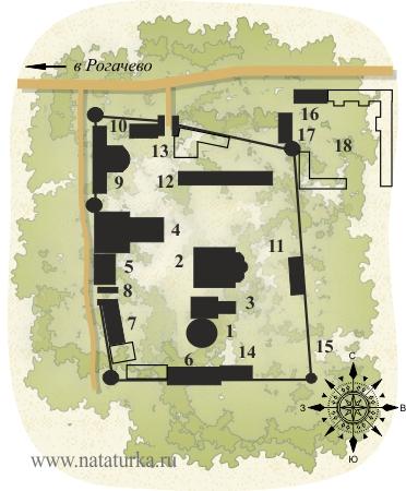 План Николо-Пешношского монастыря