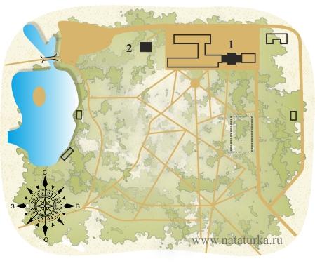 План усадьбы Назарьево