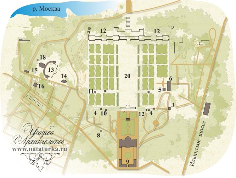 План музея-усадьбы Архангельское