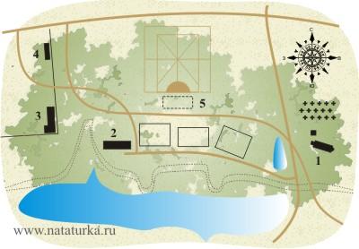 План усадьбы Белая Колпь