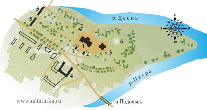 План усадьбы Дубровицы