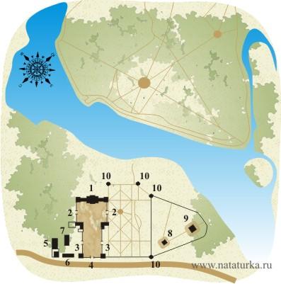 План усадьбы Гребнево