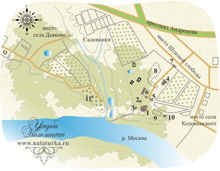 План усадьбы Коломенское