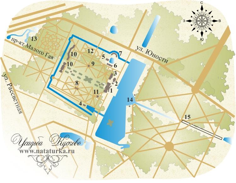 План усадьбы Кусково