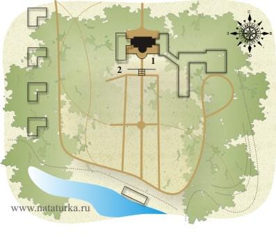План усадьбы Гусева полоса (Мамоново)