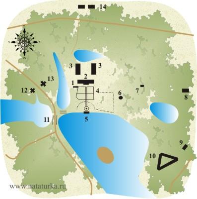 План усадьбы Марфино