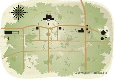 План усадьбы Никольское-Гагарино