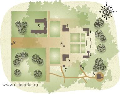 План усадьбы Осташево