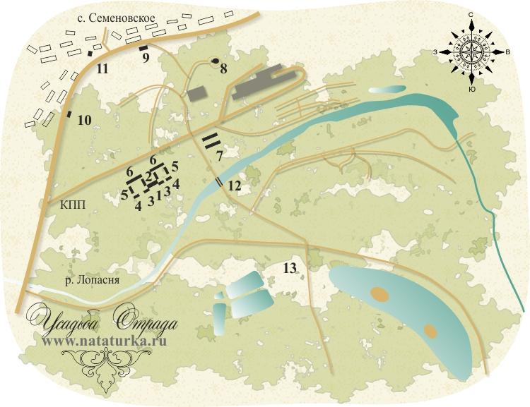 План усадьбы Отрада