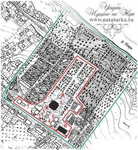 План усадьбы Пущино на Наре
