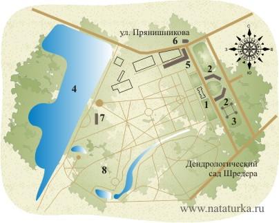 План усадьбы Петровское-Разумовское