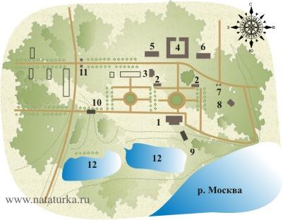 План усадьбы Петровское (Дурнево)