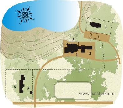 План усадьбы Подушкино