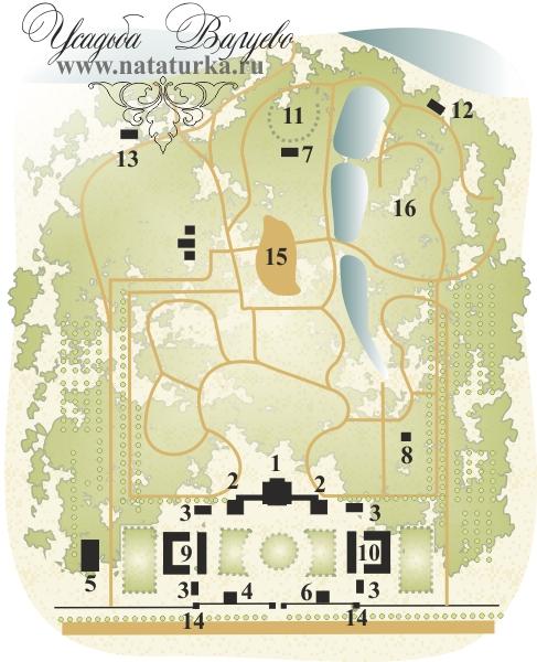 План усадьбы Валуево