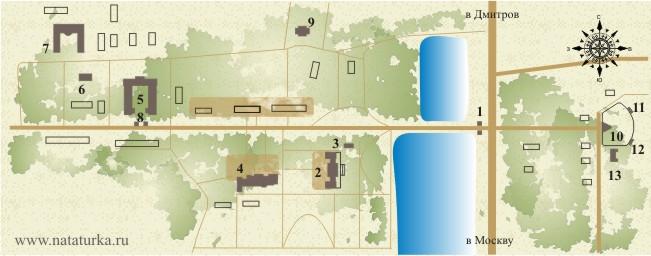 План усадьбы Виноградово