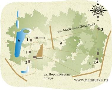 План усадьбы Воронцово