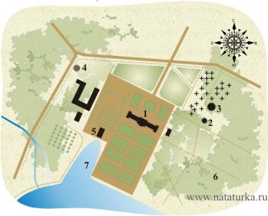 План усадьбы Вороново