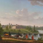 Жак Франсуа Жозеф. Прогулка в парке усадьбы Пехра-Яковлевское под Москвой, 1820 г.