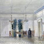 Усадьба Поречье (Уваровых)(?). Вид гостиной. В. Щербатов, 1855 г.