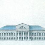 Усадьба Суханово, дворец. Фасад со стороны парка.