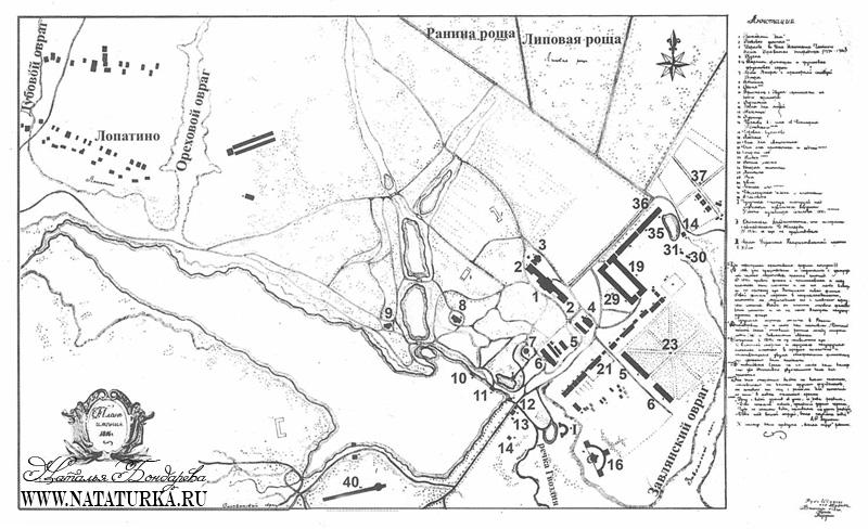 Архивный план усадьбы Суханово