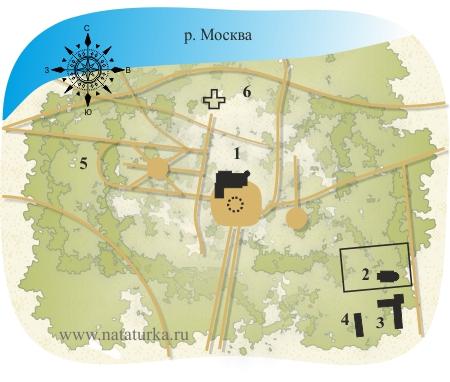 План усадьбы Васильевское (Марьино)