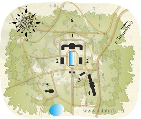 План усадьбы Введенское