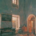 Зал старого дома. Усадьба Белкино Калужской губернии. 1904 г. В.А. Серов