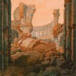 Ревякин П.П. Развалины Ново-Иерусалимского монастыря в Истре. Рисунок с натуры, 1942 г.