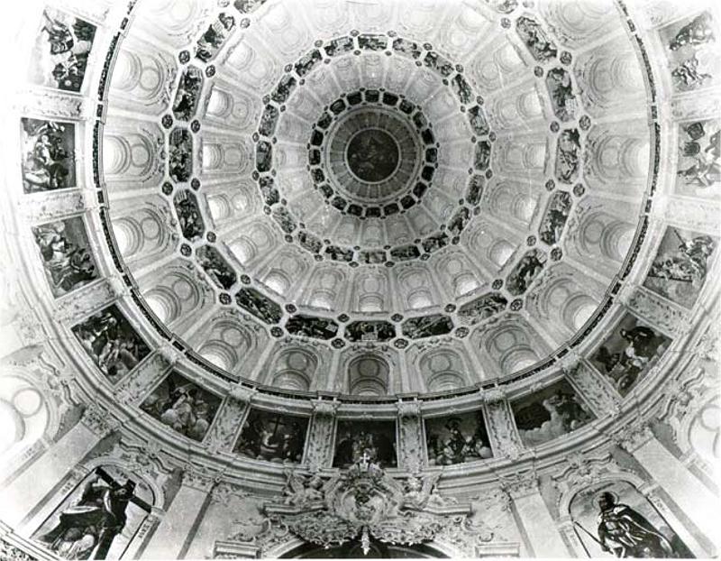 Воскресенский собор Ново-Иерусалимского монастыря. Роспись купола над Гробом Господним
