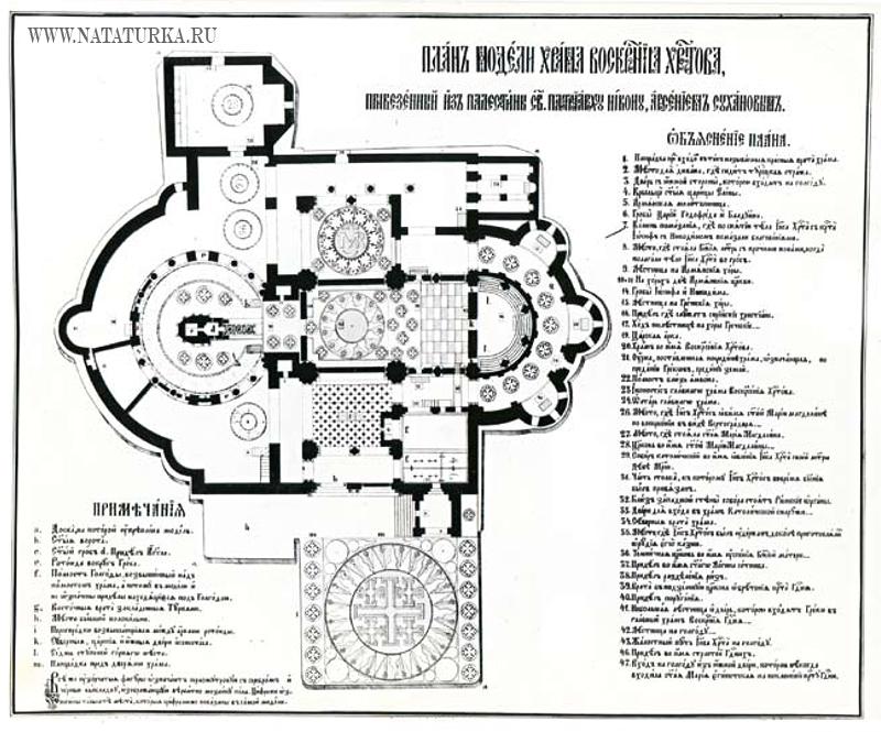 План модели храма Воскресения Христова из Палестины