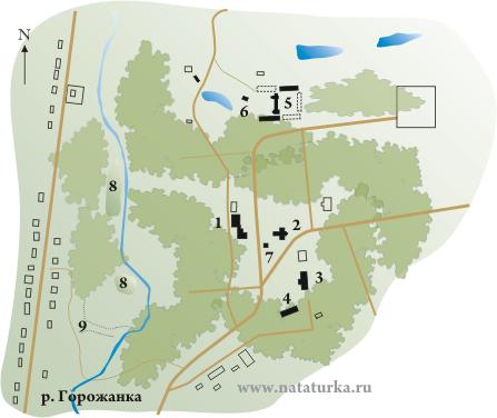 План усадьбы Барятино