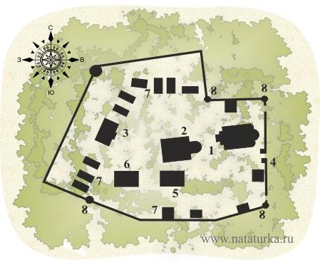 План Брусенского Успенского монастыря