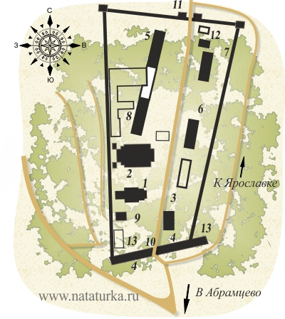План Хотькова Покровского монастыря