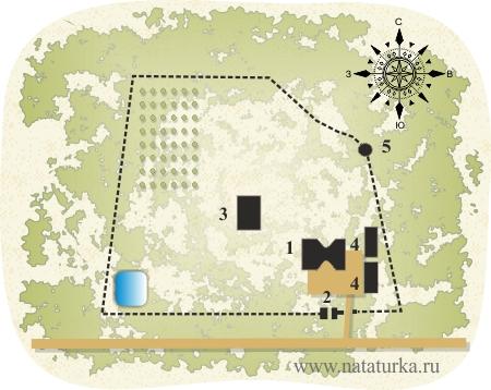 План Успенского Колоцкого монастыря