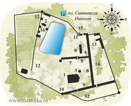 План Николо-Угрешского монастыря