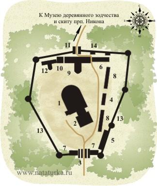 План Воскресенского Новоиерусалимского монастыря