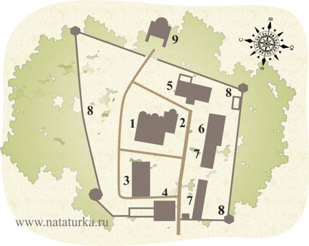 План Высоцкого монастыря в Серпухове