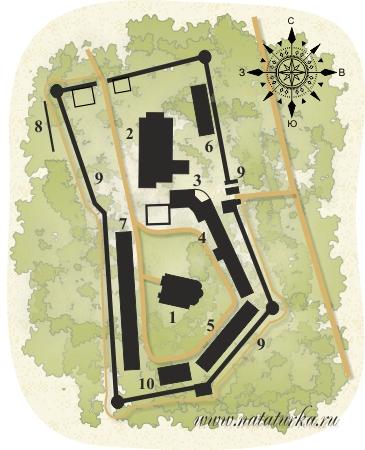 План Саввино-Сторожевского монастыря
