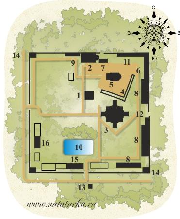 План Спасо-Бородинского монастыря