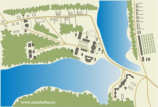 План усадьбы Алексино