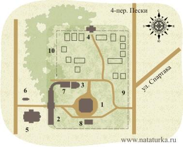 План Христорождественского монастыря в Твери