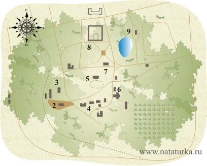 План усадьбы Высокое Смоленская область